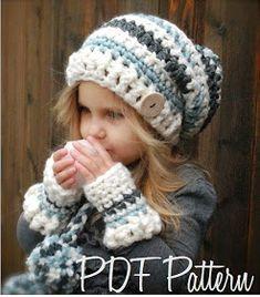 Feyona Cap/Mitt Set Crochet pattern by The Velvet Acorn Crochet Amigurumi, Crochet Beanie, Knitted Hats, Knit Crochet, Free Crochet, Crochet Gloves, Knitting Projects, Crochet Projects, Knitting Patterns