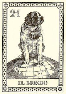 Saint Bernard Tarot Card