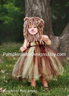Lion Costume Lion Tutu Lion Mane Wizard by pumpkinbabydesigns