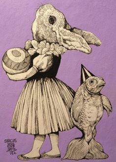 higuchiyuko:    「手品師」ヒグチユウコ画 サーカス展https://www.facebook.com/burnetmoth?ref=hl