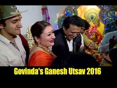 Govinda celebrates Ganesh Utsav 2016 with family. Ganesh Utsav, Celebrities, Music, Youtube, Musica, Celebs, Musik, Foreign Celebrities, Muziek