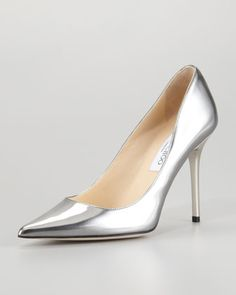 Abel Vintage Mirror Leather Pump by Jimmy Choo at Neiman Marcus.