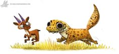 Daily Paint #987. Leopard Gecko (OA) by Cryptid-Creations.deviantart.com on @DeviantArt