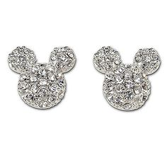 Pavé Crystal Mickey Mouse Earrings by Disney Couture | Mickey & Friends | Accessories | Women | Disney Style | Disney Store