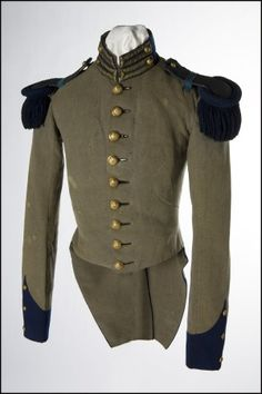 Uniform Coat 1859, American, Made of wool, cotton, and linen