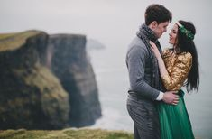 Romantic Cliffside Irish Love Session: Michaela + Cathal | Green Wedding Shoes Wedding Blog | Wedding Trends for Stylish + Creative Brides