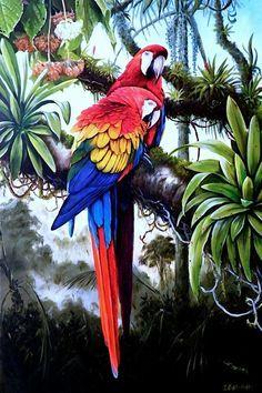 Pinturas aviar en Ilustración Servidas
