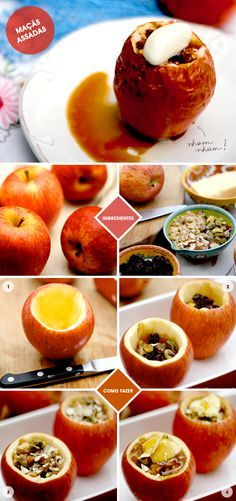Letícia Massula, chef que comanda a Cozinha da Matilde estreia no blog com uma receita irresistível: maçãs assadas com nuts, mel, uva passa e sorvete!