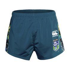 Front view of the #Tangaroa shorts. The design pays homage to Tangaroa, the #Maori god of the #ocean #Merchandise #WarriorsForever #NRL #AucklandNines #shorts #Paua #NewZealand