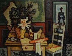 La cesta de verduras - Oleo sobre tela - Horacio Butler (Argentino 1897-1983) Museo Nacional de Bellas Artes de Buenos Aires