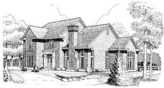 House Plan 95678 | European    Plan with 2960 Sq. Ft., 4 Bedrooms, 4 Bathrooms, 2 Car Garage