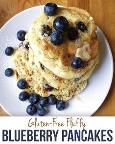 Gluten-Free Fluffy Blueberry Pancakes - The Dish On Healthy