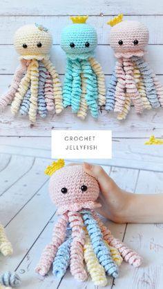 Crochet Octopus For Preemie - Amigurumi Jellyfish - Octopus For Premature Babies - Gift for Premature Baby - Octopus Toy - Jellyfish Decor Preemie Octopus, Baby Octopus, Octopus For Preemies, Preemie Crochet, Crochet Baby, Crochet Patterns Amigurumi, Crochet Dolls, Crocheted Jellyfish, Diy Crochet Octopus