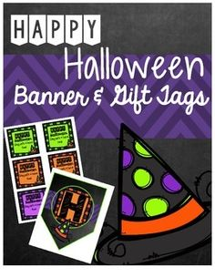 Use this bright banner to greet your spooktacular kids when they enter your classroom as Halloween nears! Print, laminate, string, and hang  in your doorway, within your classroom, as a bulletin board title, and much more! There are also multi-colored gift tags included for easy use!