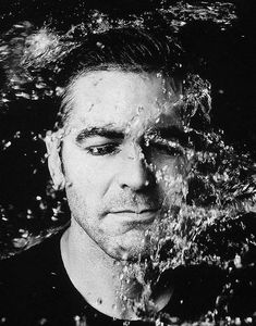 ♂ Black & white photography underwater man portrait George Clooney