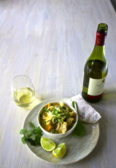 A delicious Thai Noodle Soup that's quick and easy enough to make on a weeknight. We used Sealord Hoki fillets, now certified by The Marine Stewardship Council – and matched it with Villa Maria's Private Bin Arneis, East Coast 2013.