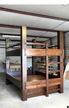 Easy And Strong 2x4 Amp 2x6 Bunk Bed Adk Camp Decoration