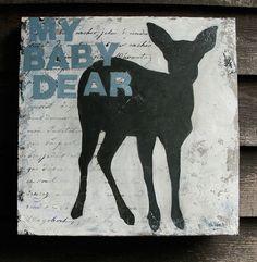 Baby Deer Nursery Decor Baby Room Art print by bonnielecat Hunting Theme Nursery, Baby Deer Nursery, Baby Boy Art, Bear Nursery, Baby Boy Rooms, Baby Boy Nurseries, Nursery Art, Nursery Decor, Baby Room