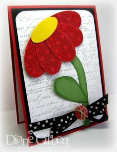 Pick a Petal Smile by - Cards and Paper Crafts at Splitcoaststampers Cricut Cards, Stampin Up Cards, Punch Art Cards, Tampons, Pretty Cards, Cool Cards, Flower Cards, Creative Cards, Kids Cards