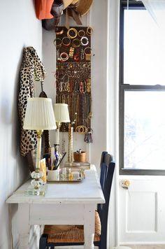 love the jewelry storage/display in Jennifer's Streamlined Simplicity