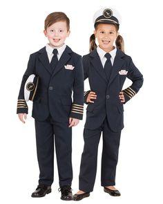 Pilot Mens Dress Shirt Adult White Aviator Captain Halloween DIY Uniform Spread Collar Epaulette Four Bars Tie Set