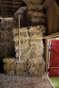 Country life on the farm, stacking bails of hay, with my pitch fork at rest. Country Charm, Country Life, Country Girls, Country Living, Country Roads, Country Style, Looks Country, Everything Country, Hay Bales