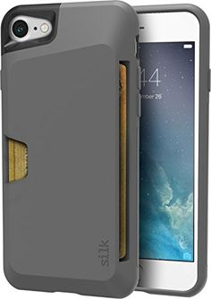 Buy Silk iPhone 7 Wallet Case - Vault Slim Wallet for iPhone 7 [Protective Grip Card Case] - Black Onyx: Cases - ✓ FREE DELIVERY possible on eligible purchases Iphone Cases Cute, Iphone Wallet Case, Cell Phone Cases, Thing 1, Purple Orchids, Samsung, Slim Wallet, Credit Cards, Card Case