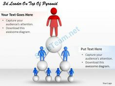 3D Leader on Top of Pyramid Ppt Graphics Icons Powerpoint #Powerpoint #Templates #Infographics