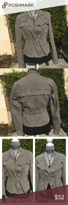 American Rag🍃Trendy Jacket! American Rag🍃Trendy Jacket! Olive color, so cute for fall! In great condition, so pretty with jeans or dressy outfits too:) American Rag Jackets & Coats