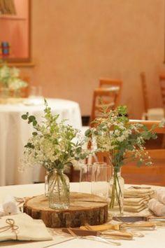 """""""少なめ装花""""が今旬!先輩花嫁のおしゃれアイデア5 ゼクシィ Wedding Table Flowers, Wedding Table Decorations, Wedding Images, Green, Nature, Inspiration, Home Decor, Biblical Inspiration, Naturaleza"""