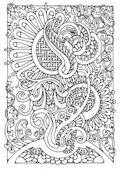 abstract doodle zentangle coloring pages colouring adult detailed advanced