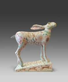 Georgina Warne Dancing on the drum of the hill in her flamenco heels. Stoneware glazed with hand painted detail × × ins × 48 × 17 cm) Pottery Animals, Ceramic Animals, Glass Animals, Ceramic Art, Sculpture Clay, Ceramic Sculptures, Rabbit Art, Bunny Art, Country Art