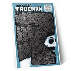 Интерактивный скретч-постер #100 ДЕЛ TRUEMAN Man edition предназначен в подарок мужчине, находящемуся в поисках своего жизненного пути. Постер – настоящий путеводитель и мотиватор для свершения сотни подвигов, на которые у современного мужчины не хватает времени или решительности. Подвиги, кот