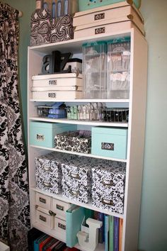 .this is how I want my lia Sophia, dance, crafts, and photo shelves to look in my office!