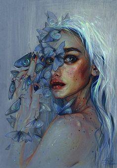 I like how it is more fantasy like but has a realistic style. I also like the blue hues a lot.