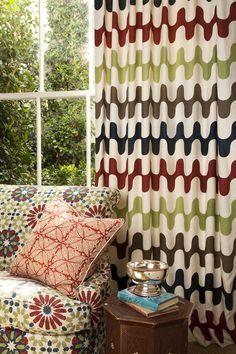 Martin Lawrence-Bullard Design - not exactly zig zag but I do love this man's fabric to bits!!