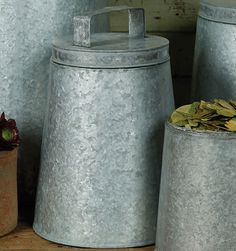 Galvanized Bin   REstyleSOURCE  ~ so many ideas to use these for