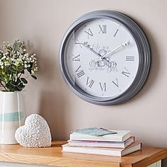 Glitter Mirrored 50cm Wall Clock Silver   Dunelm Silver Wall Clock, Grey Clocks, Mirror Wall Clock, Glitter Mirror, Clock Display, Roller Blinds, Modern Design, Key, Roman Numerals