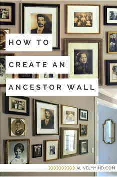 A step by step guide for displaying your old family photos in a beautiful ancestor gallery wall