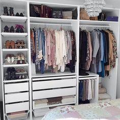 Lovely Make Dressing Room Design Ideas Wardrobe Room, Closet Bedroom, Home Bedroom, Bedroom Decor, Ikea Open Wardrobe, Ikea Fitted Wardrobes, Ikea Pax Closet, Master Closet, Bedroom Apartment