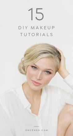 15 DIY makeup tutorials.