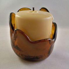 Amber Candle Holder