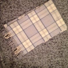 """100% Cashmere Tartan Scarf from Scotland 100% Cashmere tartan design scarf. Woven in Scotland from the finest of Cashmere yarns. So soft and cozy! Preloved, excellent condition.  Approx. 58"""" long. Accessories Scarves & Wraps"""