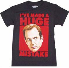 Arrested Development I've Made A Huge Mistake shirt $18 at OldSchoolTees.com