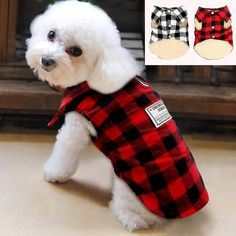 PET BONITO: Dog Plaid Vest ~ Winter Windproof Cotton Dog Jacket ~ Warm Coat for Cold Weather ~ Small Medium Dogs  #loveyourpet #petbonito