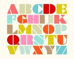 ALPHABET in stencil font by iheartmodernart Stencil Font, Stencils, Typography Letters, Hand Lettering, Alphabet Print, Alphabet Soup, Police, Design Seeds, Alphabet And Numbers