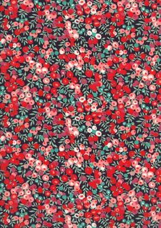 Liberty Fabrics - Wiltshire J - The Strawberry Thief Motif Floral, Floral Prints, Floral Patterns, Ditsy Floral, Surface Pattern Design, Pattern Art, Aesthetic Backgrounds, Aesthetic Wallpapers, Illustration Art Drawing