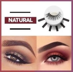 ON SALE & HOT SALE! Buy 3 Get OFF (Code: Tired of applying false eyelash with the messy glue? These innovative Reusable Self-Adhesive Eyelashes are th Makeup Tips, Beauty Makeup, Eye Makeup, Eyelashes Makeup, Contour Makeup, Huda Beauty, Perfect Eyelashes, Beautiful Eyelashes, Polygel Nails