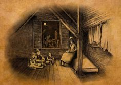 Victorian attic, beautiful illustration for a children's book by Mark Mac Grory Children's Book Illustration, Attic, Childrens Books, Mac, Victorian, Painting, Beautiful, Children Story Book, Painting Art