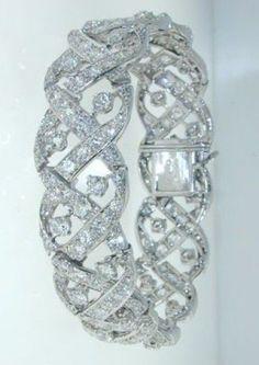 Cartier - CARTIER LONDON Magnificent Diamond Bracelet - Hancocks #diamondbracelets